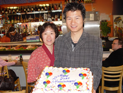 Jason Shi and Nina, his wife