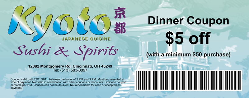 Kyoto restaurant coupons