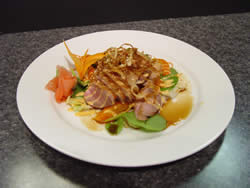 DUCK APPETIZER - CLICK HERE FOR A CLOSE-UP IMAGE